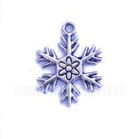 NATALE004 charm ciondoli 1129 fiocco di neve snowflake 24x19MM