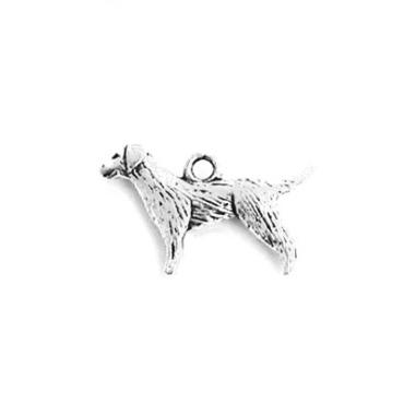 ANI008 charm ciondoli 1129 cane setter dog 24x15mm