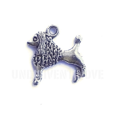 ANI020 charm ciondoli 1129 cane barboncino dog 19x20 mm
