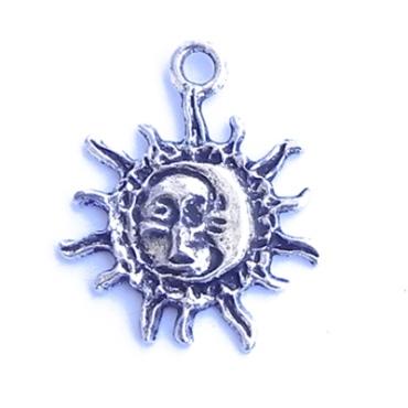 ASTRI001 charm ciondoli 1129 sole luna sun moon 34x25mm