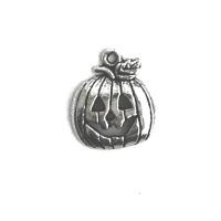 CIBO006 charm ciondoli 1129 zucca intagliata pumpkin jack o'lantern 19x15 mm