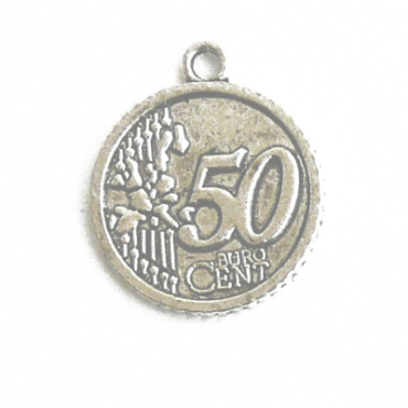 COIN001 charm ciondoli 1129 moneta euro 50 cent 28x23mm