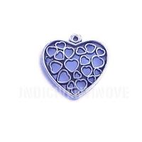 CUORE002 heart charms ciondoli cuore cuori amore 22x22 mm