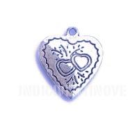 CUORE003 heart charms ciondoli cuore 1129 25x21 mm