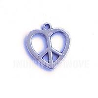 SIMB007 charm ciondoli pace amore peace love symbol 19x19 mm