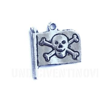 SIMB013 charm ciondolo bandiera pirati pirat flag 21x19mm