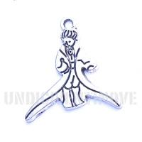PERSONAGGI 001 ciondolo pendente piccolo principe little prince silver charm 1129 25x28mm