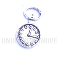 WATCH 001 ciondolo pendente orologio da taschino silver watch charm 1129 26x16mm