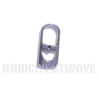 CUORE 004 ciondolo pendente lucchetto cuore heart locker silver charm 1129 27x13mm