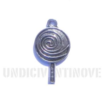 DOLCI 001 ciondolo pendente lecca lecca argento lollipop silver charm 1129 35x20mm